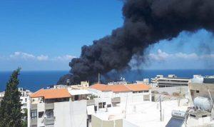 بالفيديو والصور: حريق ضخم في البوار