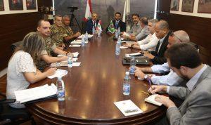 محادثات لبنانية – برازيلية في وزارة الدفاع