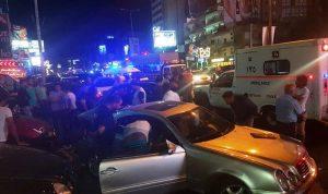 3 جرحى بحادث سير على اوتوستراد جل الديب