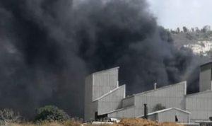 """حريق في """"شركة الإترنيت"""" في شكا"""