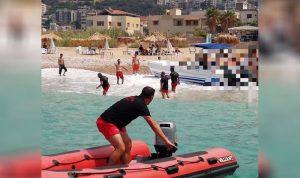 إنقاذ 8 أشخاص مقابل شاطئ العقيبة