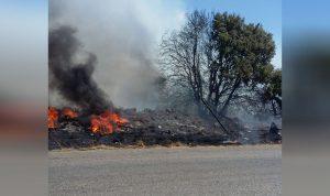 حريق في خراج بلدة دده