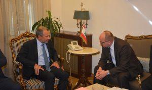 باسيل بحث مع نائب وزير خارجية بولونيا تمويل إعادة عائلات نازحة