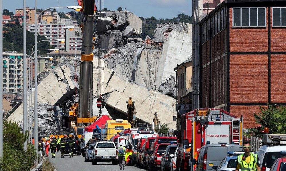 بعد انهيار الجسر... إعلان حال الطوارىء لمدة عام في جنوى