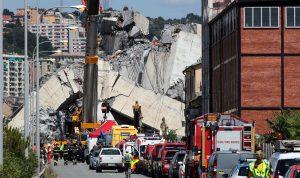 بعد انهيار الجسر… إعلان حال الطوارىء لمدة عام في جنوى