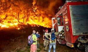 إخماد الحرائق المندلعة في القبيات لليوم الرابع