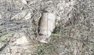 العثور على قنبلة عنقودية في كفرصير