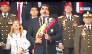 بالفيديو: لحظة محاولة اغتيال رئيس فنزويلا