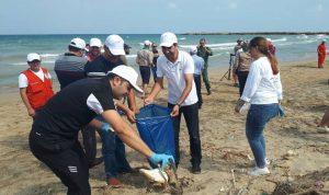 في المنية… حملة لتنظيف الشاطئ الشعبي