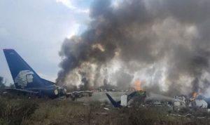 بالفيديو: تحطم طائرة ركاب على متنها 101 شخص في المكسيك