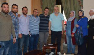 الصمد استقبل وفدا من متعاقدي الضمان في طرابلس