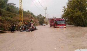 إنقاذ 19 شخصًا احتجزتهم السيول في الضنية