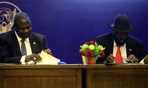توقيع اتفاق سلام بين طرفي النزاع في جنوب السودان