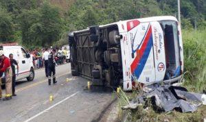 عشرات القتلى والجرحى في انقلاب حافلة في الإكوادور