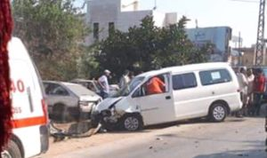 جريحان بحادث سير على طريق عام حلبا العبدة