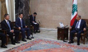 عون: لتحسين شبكة الطرقات بين لبنان وسوريا