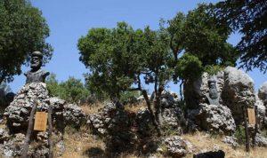 إزاحة الستارة عن تمثال البطريرك مار يوحنا مارون في الديمان