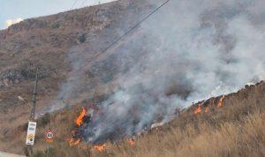 حريق في خراج بلدة القليعة