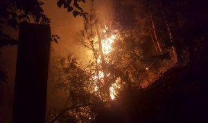 حريق في بعبدات