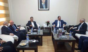 الحاج حسن وزعيتر بحثا مع مسؤولين سوريين التبادل التجاري