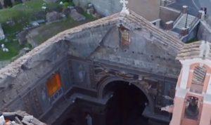 بالفيديو: انهيار سقف كنيسة تاريخية في روما