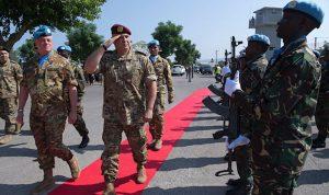 """قائدا """"اليونيفيل"""" والجيش عرضا تعزيز التنسيق والتعاون"""