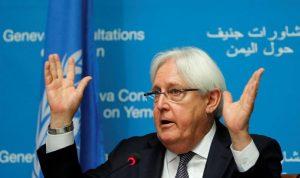 غريفيث يرفض الانقلاب بعدن وأبين في اليمن