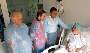 اللبنانية صاحبة الـ128 عاماً في المستشفى