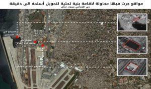 الجيش الاسرائيلي: حزب الله يقيم بنية تحتية للصواريخ قرب مطار بيروت