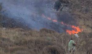 إخماد حريق في خراج بلدة القليعة