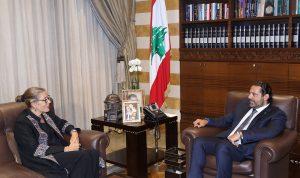 الحريري بحث مع كارديل الأوضاع العامة