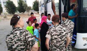 عودة 50 نازحا سوريا من النبطية الى بلادهم