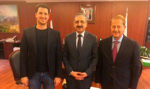 طلال وطارق المرعبي بحثا مع أيوب فرع الجامعة اللبنانية في عكار