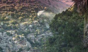 إخماد حريق في وادي نهر إبراهيم