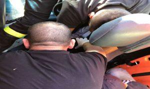 بالصور: جريح اثر حادث سير في صور