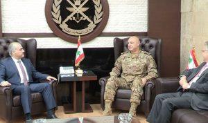 قائد الجيش استقبل ابو الحسن وأمين عام اتحاد المصارف العربية