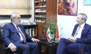 بقرادونيان بحث ملف النازحين السوريين مع السفير البريطاني