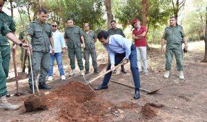 بالفيديو: شبيب يشرف على زرع 800 شجرة في بيروت