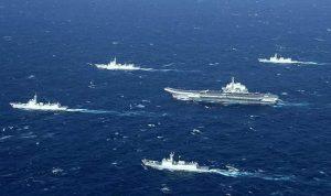 مناورات عسكرية ضخمة في بحر الصين الجنوبي