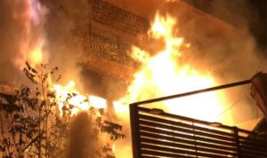 حريق في منزل في مشحا العكارية