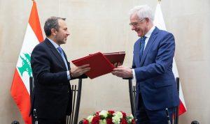 باسيل: لبنان يكافح للحفاظ على استقراره ووجوده الحر