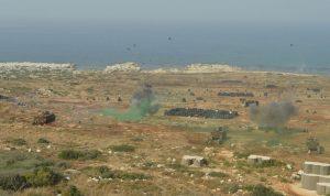 مناورة للجيش بالذخيرة الحية في حامات