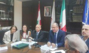 بو عاصي وقع مع سفير ايطاليا اتفاق تمديد مشروع المدن الصديقة للاطفال