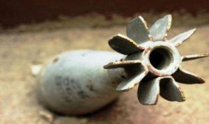 العثور على قذيفة هاون في الكورة