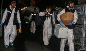 بالصور: الانتهاء من جمع الأدلة في مبنى القنصلية السعودية