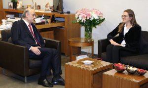 جعجع بحث مع سفيرة الدنمارك آخر التطورات