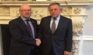 السنيورة التقى وزير الدولة البريطاني لشؤون الشرق الأوسط