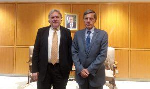 وزير الشؤون الخارجية اليونانية في بيروت