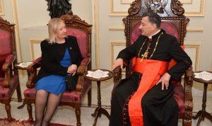 سفيرة الأوروغواي من بكركي: لتشكيلالحكومة بأسرع وقت