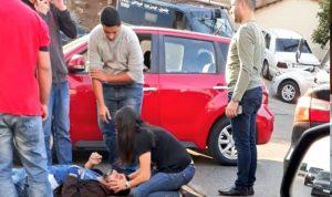 بالصور: جريح بحادث سير في الكورة